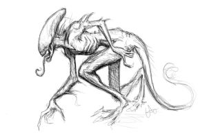 Alien sketch by elicenia