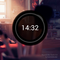 -011 Huawei-like Clock for Rainmeter by braindefender