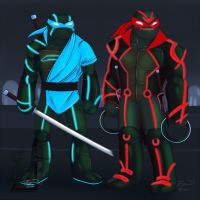 Tron Turtles by ralloonx