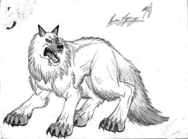 the white wolf by TheLaughingChimera