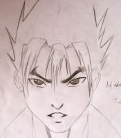 Jin Kazama Sketch by dragonsnap24