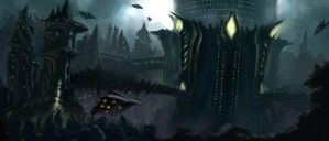 Alien city by Hallowtreez