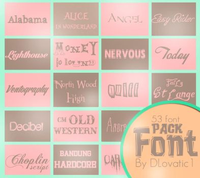 Font PACK 1 by DLovatic1