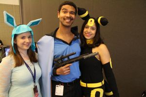 PAX East 2013 - Lando, Umbreon and Glaceon by VideoGameStupid