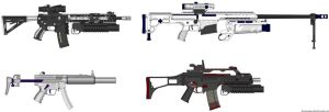 AEG, 98 Bravo, MP5SD3 and G36C by Hellkiller777