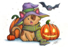 Halloween Kitty by Anne-O