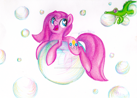 Pink Bubbles by PitterPaint