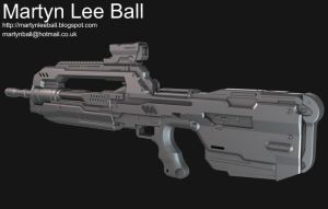 Halo 4 Battle Rifle - Image 2 by martynball