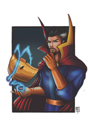 Dr Strange and Helm of Nabu by AberrantKitty by cerebus873