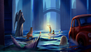 The city of Mermaids by PolkaDotedFlower