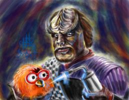 Worf Torching a Furby by chrismoet