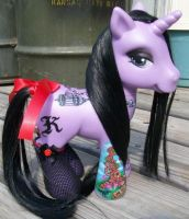 Katie's tattooed pony commission custom by AdeCiroDesigns