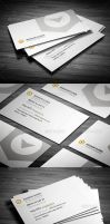 Rounded Clean Corporate Business Card by calwincalwin