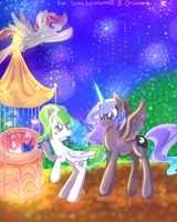 Bright Night [For Canterlot Feast-Day Contest] by Renaifoxi