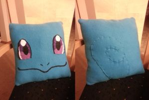 Squirtle Pillow by ChallengeSakana