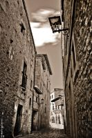 Old, narrow street. by MarioGuti