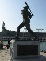 Willie McCovey Statue by kkworker