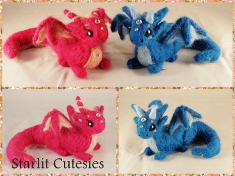 Needle Felted Gem Dragons! by StarlitCutesies
