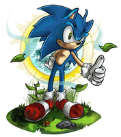 Sonic The Hedgehog 20th by kintobor