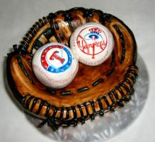 Base Ball Glove Cake by TiffsWickedCakes