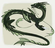 Kiyo the Japanese Party Dragon by annicron