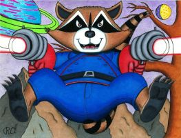 Rocket Raccoon Leaps Into Action! by WalterRingtail