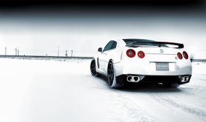 Nissan GTR Snowy Field by DistortedImagery