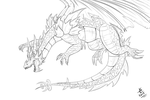 Dragon outlines - Cyril by giantdragon