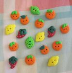 Fruit Buttons by Sompy-Stuff