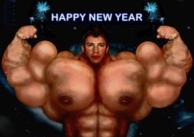 Muscular Happy New Year by n-o-n-a-m-e