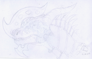 War dragon head sketch by Weirda208