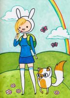 Fionna and Cake by xxswanfeather