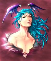 Morrigan - Practice Sketch by  alvinlee by NormanWong