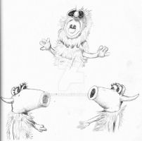 Mahna Mahna and the two Snowths sketch by Gr8Gonzo