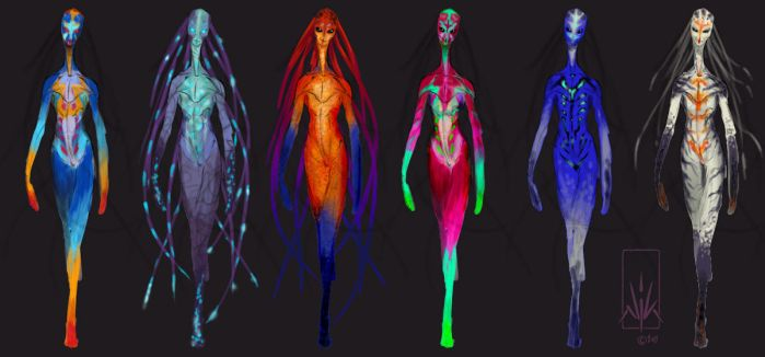 Catwalk-Alien Colour-Roughs by Nicksketch