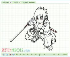 How to Draw Sasuke Part 2 by SketchHeroes