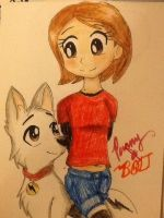 Penny and Bolt by Artfrog75