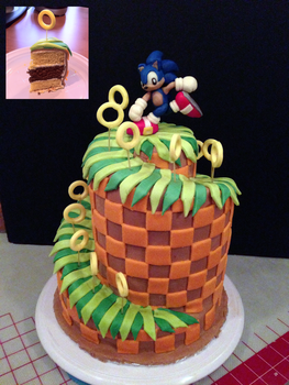 Sonic Green Hill Zone Cake by Kalan