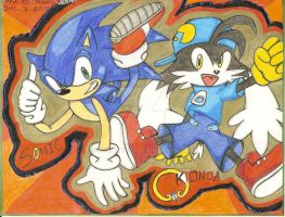 sonic and klonoa two worlds collide by SONICJENNY