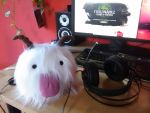 Poro Plushie (selfmade) by StrawberrySweetCat