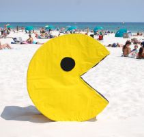 Pacman at the Beach by mysticdream325