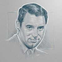 [sketch] Cary Grant by BikerScout