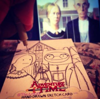 FINE ARTS - Progress Shot - American Gothic by geralddedios