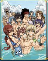 Fairy tail Beach Ova by ReyAzul