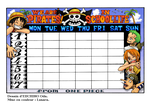 One Piece - Timetable (coloring) by LUsara