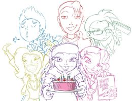 Birthday Doodle by Chano-kun