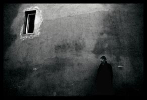 The Wall The Window and a Man by Photore