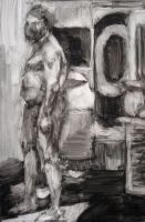 Male figure in Ink by Kunsthaus