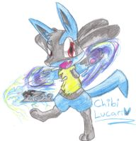 Chibi Lucario - Comission by MotherGarchomp622