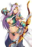QX 2d game art beauty archery character hero by etcgood